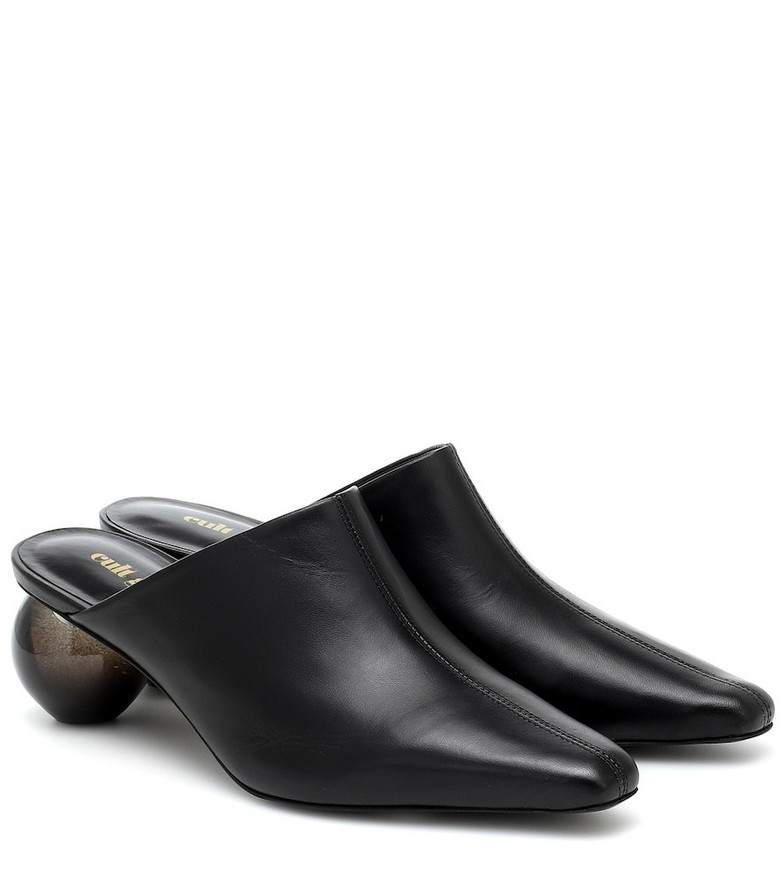 Cult Gaia Amelia leather mules in black