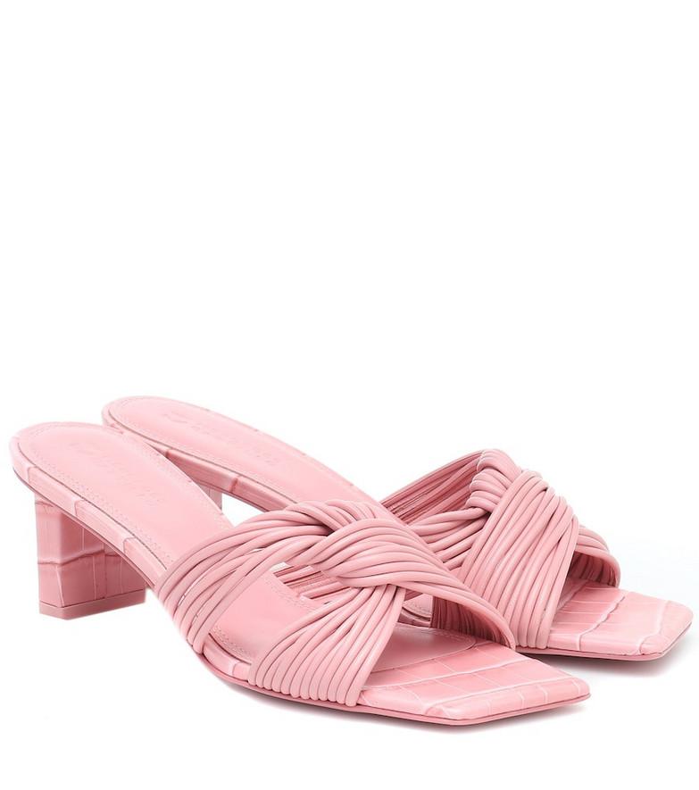 Mercedes Castillo Calisse leather sandals in pink