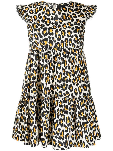 Marc Jacobs animal print tent dress in neutrals