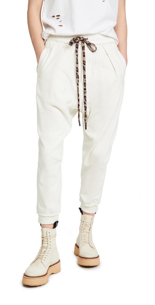 R13 Harem Sweatpants in white