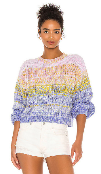 525 america Mixed Marl Pullover Sweater in Pink in multi