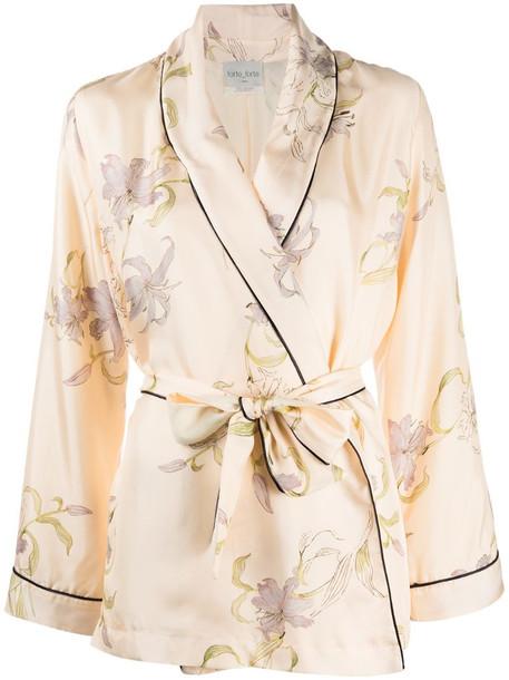 Forte Forte floral-print silk jacket in neutrals