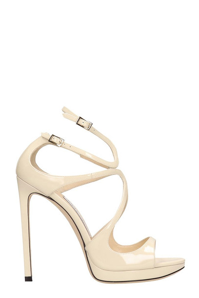 Jimmy Choo Lance 120 Sandals in white