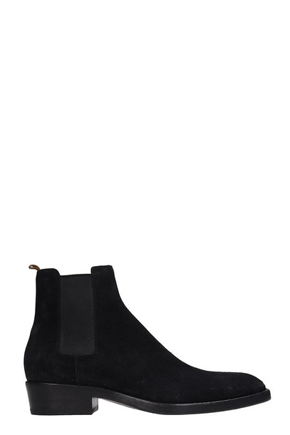 Buttero Black Suede Beatles Ankle Boots