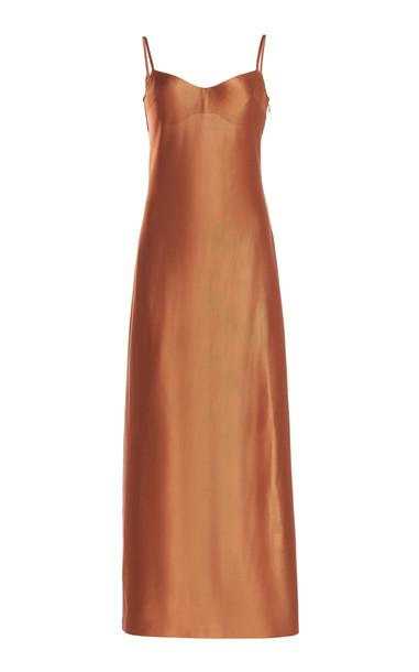 Galvan Sahara Bustier Dress in brown