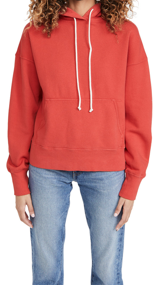 RE/DONE Classic Hoodie in red