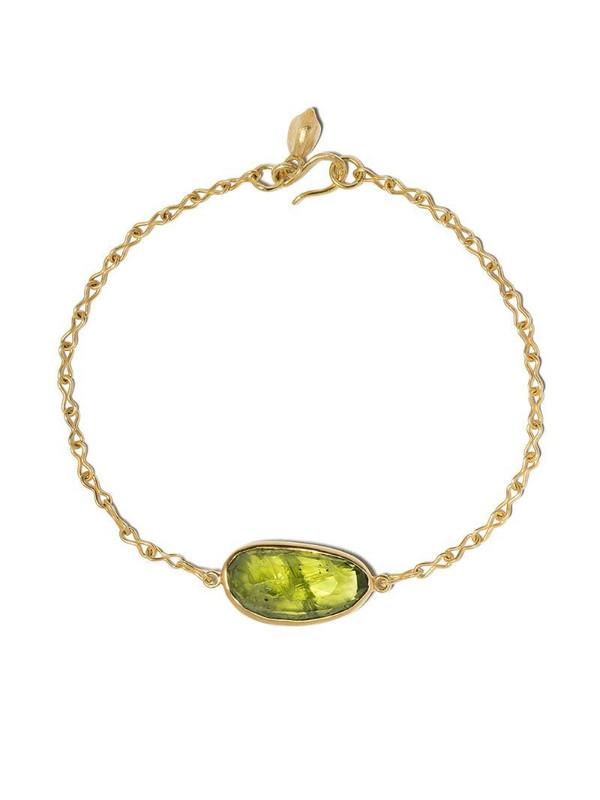 PIPPA SMALL 18kt yellow gold peridot bracelet