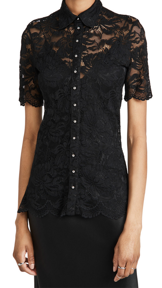 Paco Rabanne Lace Blouse in black