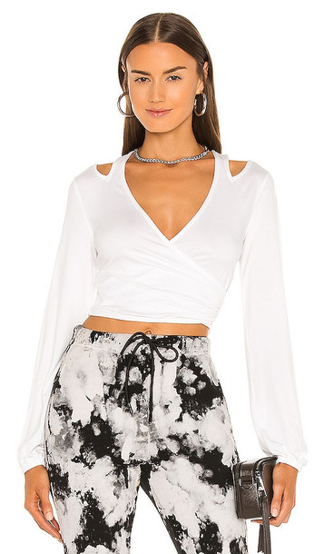 h:ours Cut Out Nikkie Top in White