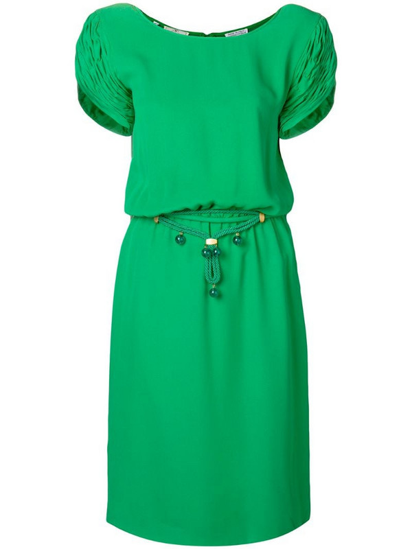 Valentino Pre-Owned shortsleeved mid-length dress in green