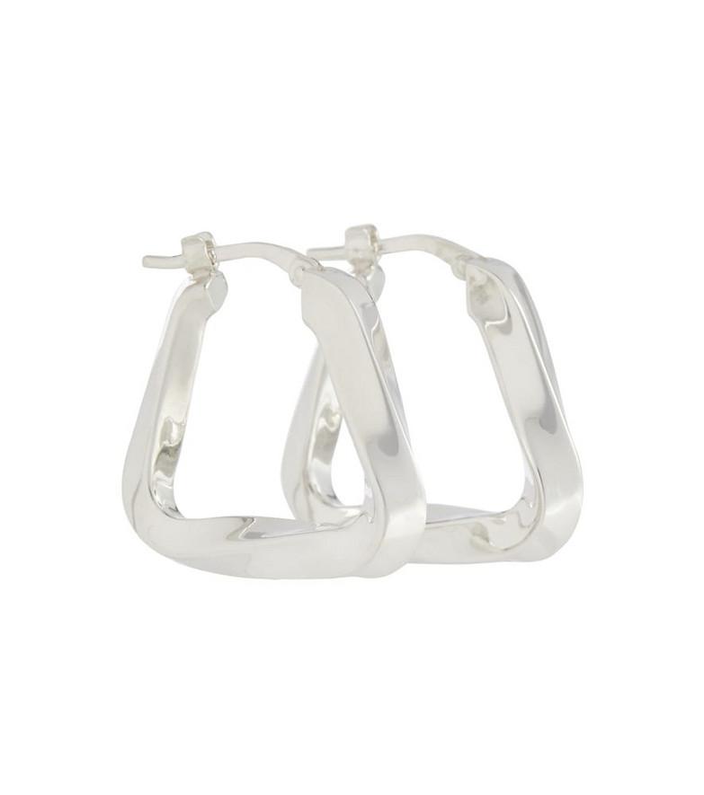 Bottega Veneta Triangle hoop earrings in beige
