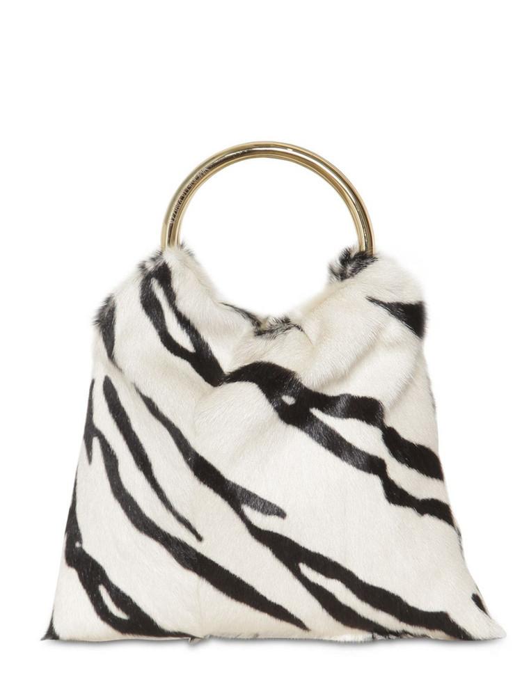 SIMONETTA RAVIZZA Furissima Sac Kid Zebra Printed Bag in black / white