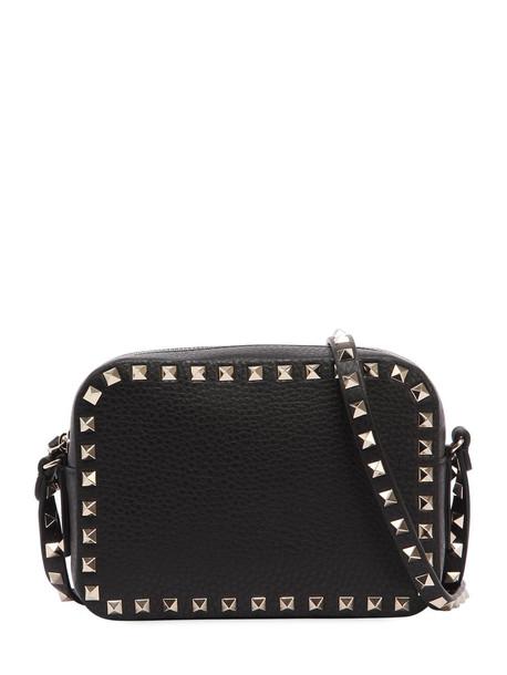 VALENTINO GARAVANI Rockstud Leather Camera Bag in black