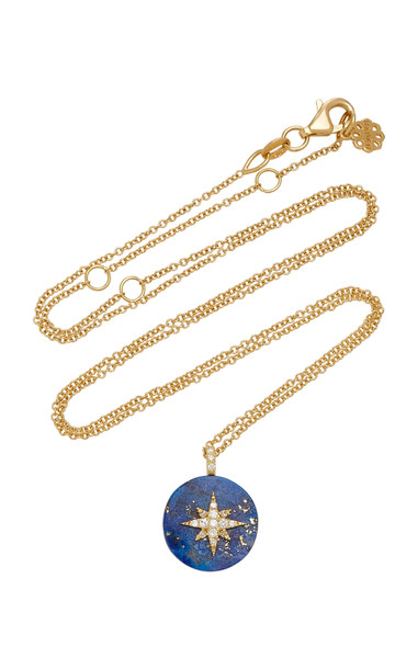 Noush Jewelry Coexist 18K Gold, Lapis And Diamond Necklace
