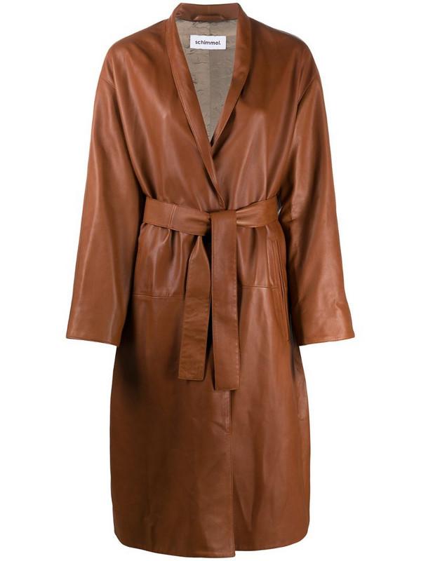 Sylvie Schimmel Aramish leather coat in brown