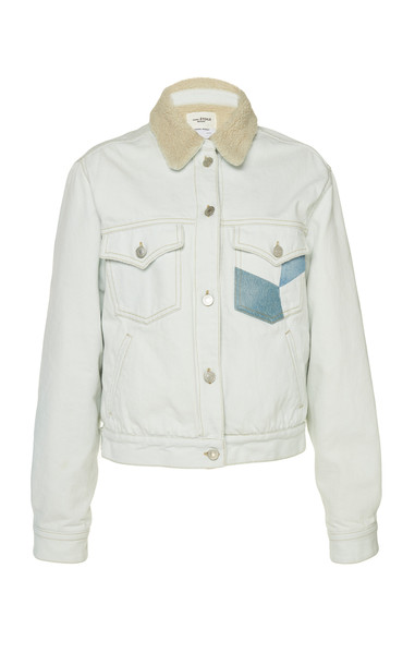 Isabel Marant Étoile Lindy Patchwork Jean Jacket in blue