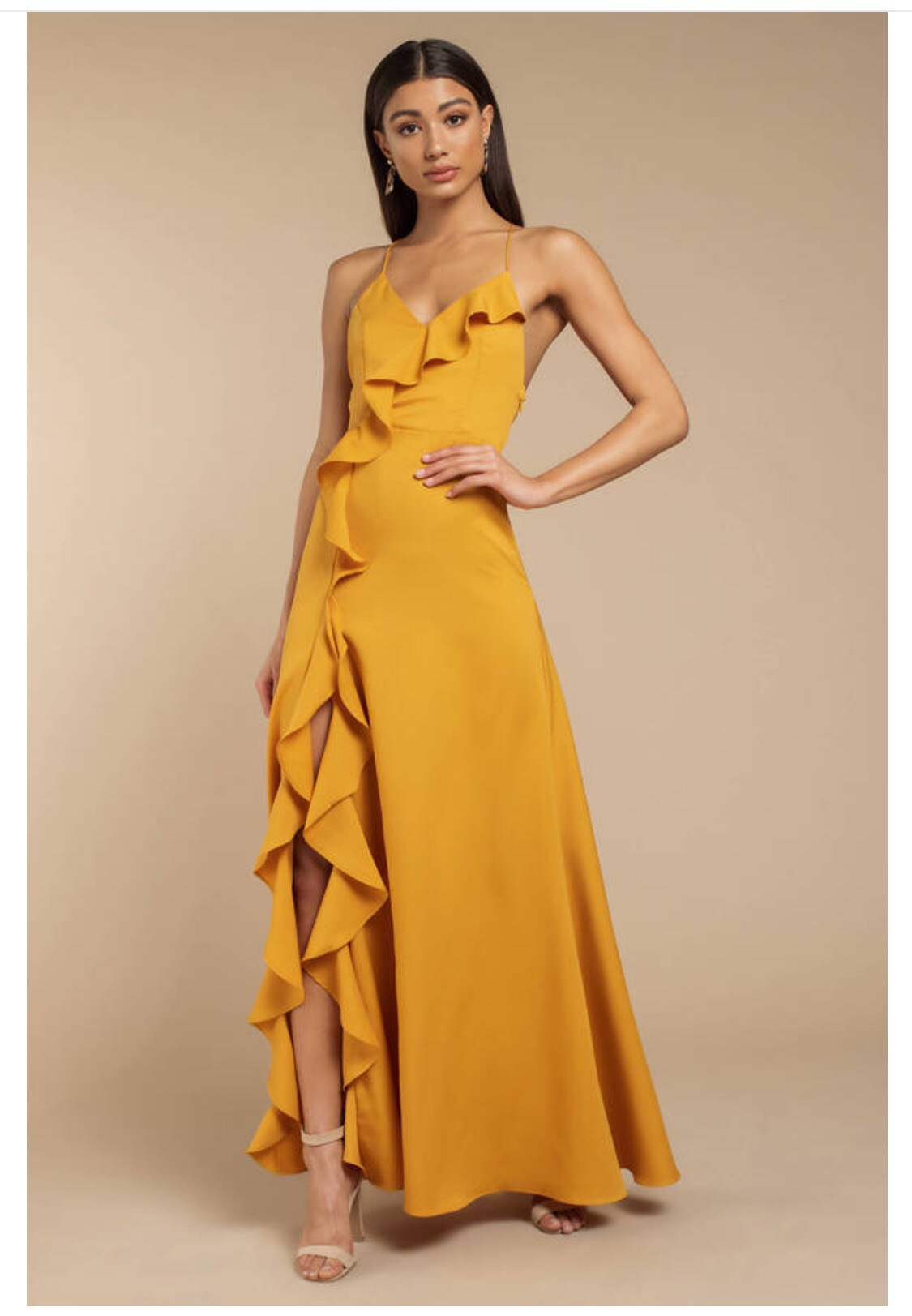 dress yellow maxi dress maxi prom dress prom v neck dress v neck strappy yellow dress