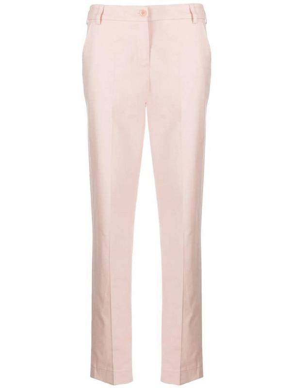 Emporio Armani slim tailored trousers in pink