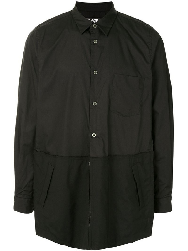 Black Comme Des Garçons contrast-panel shirt in black