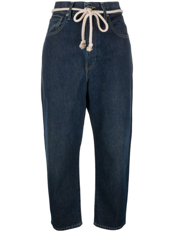 Levi's: Made & Crafted tie-waist jeans in blue