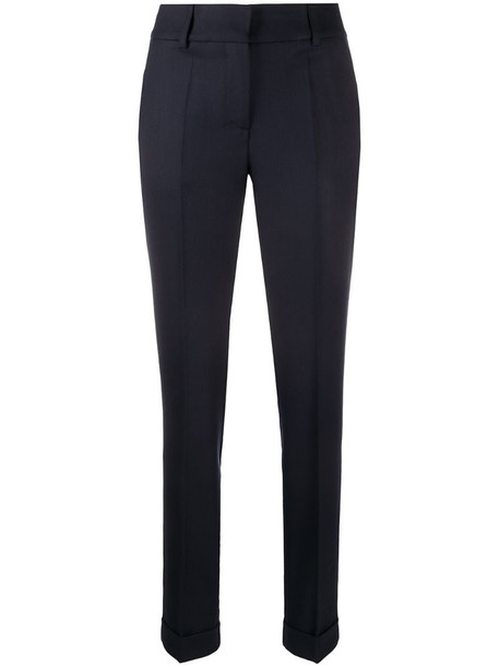 P.A.R.O.S.H. straight-leg trousers in blue