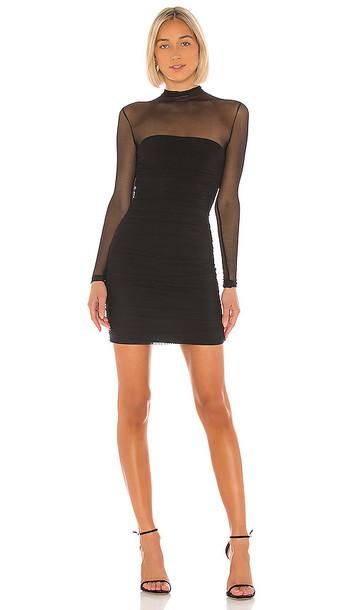 Nookie Poison Long Sleeve Mini Dress in Black