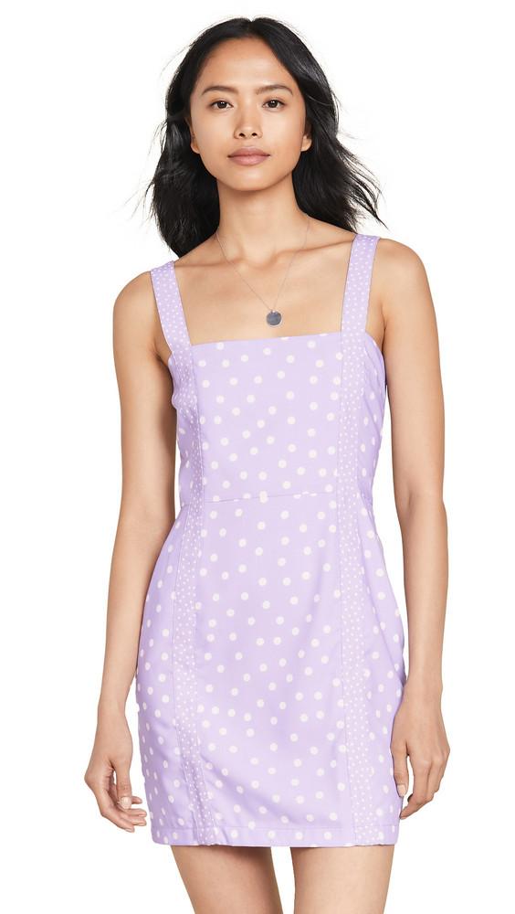 Solid & Striped Mini Dress in lavender