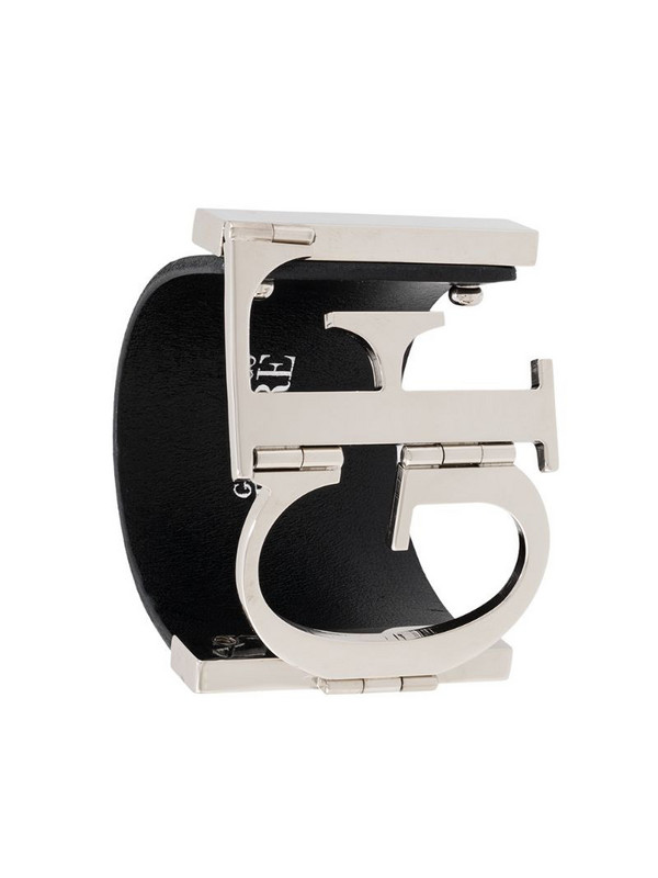 Gianfranco Ferré Pre-Owned 2000s monogram cuff bracelet in black