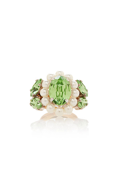 Simone Rocha Large Cameo Ring Size: S/M in white