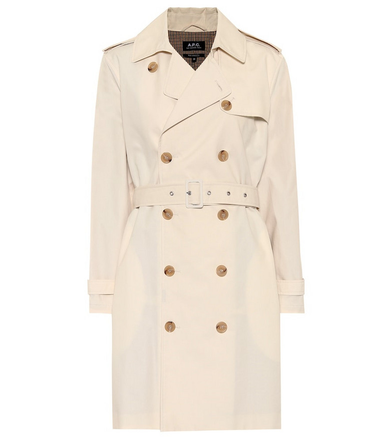 A.P.C. Joséphine cotton trench coat in beige