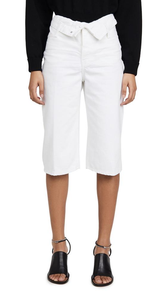 Denim x Alexander Wang Runway Scout Flip Shorts in white