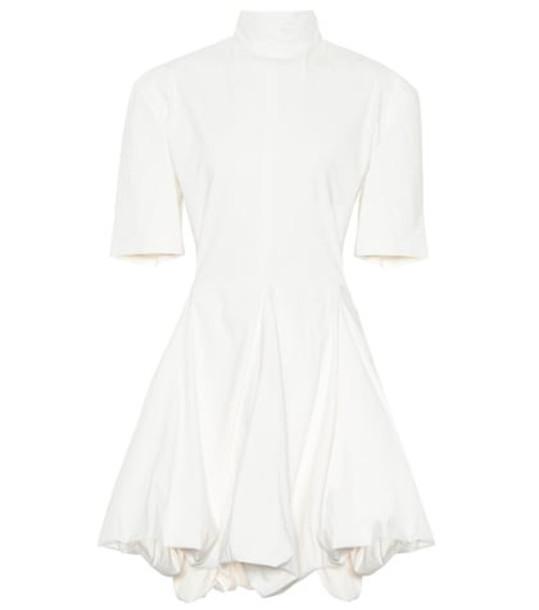 Jil Sander Stretch cotton-blend minidress in white