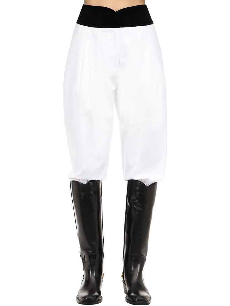 ÀCHEVAL PAMPA Cotton Blend Satin Pants in black / white