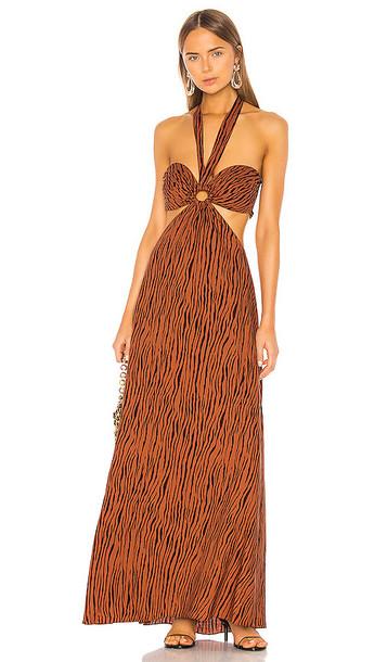 Ronny Kobo Sonnet Dress in Brown
