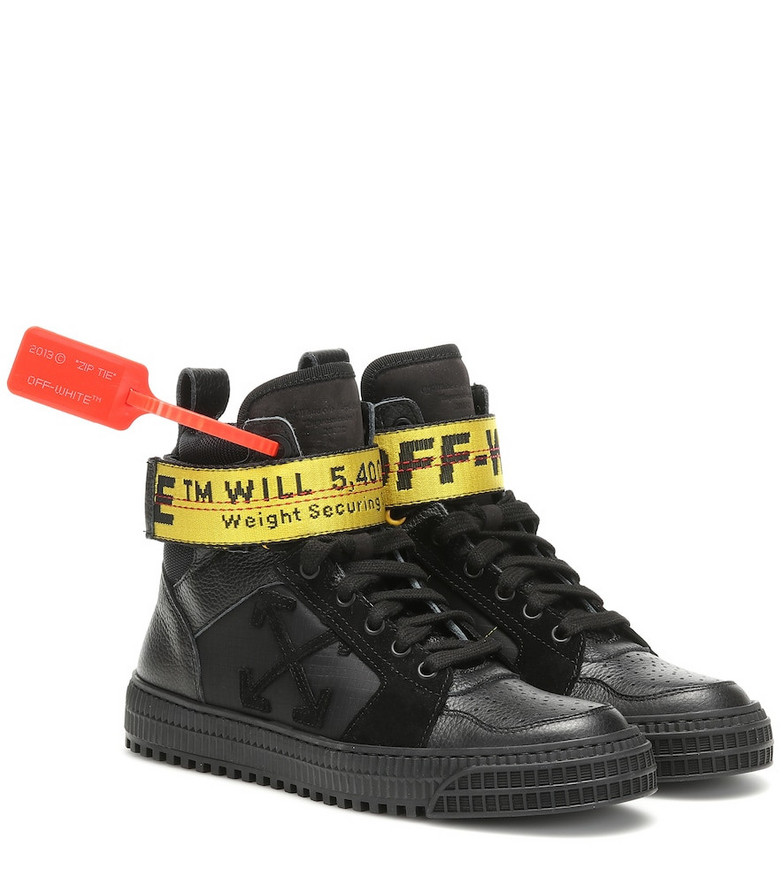 Off-White Exclusive to Mytheresa – Industrial leather sneakers in black