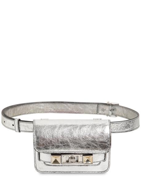 PROENZA SCHOULER Ps11 Metallic Leather Belt Bag in silver