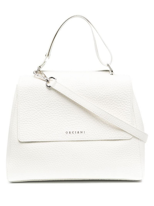 Orciani logo top-handle tote in white