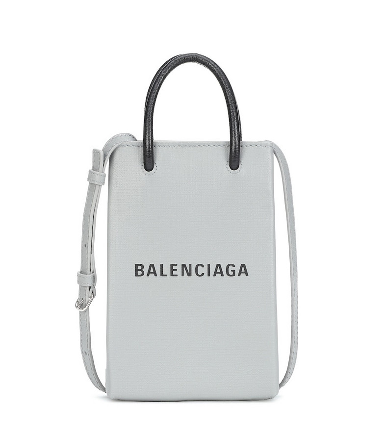 Balenciaga Shopping Phone Pouch crossbody bag in grey