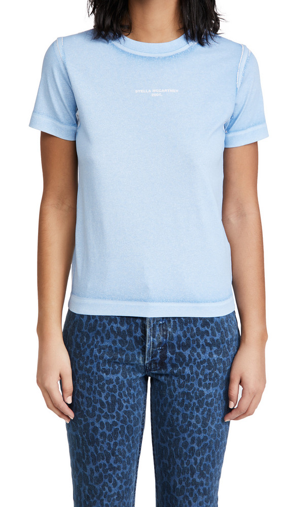 Stella McCartney T-Shirt Overprinted Color Shirt in blue