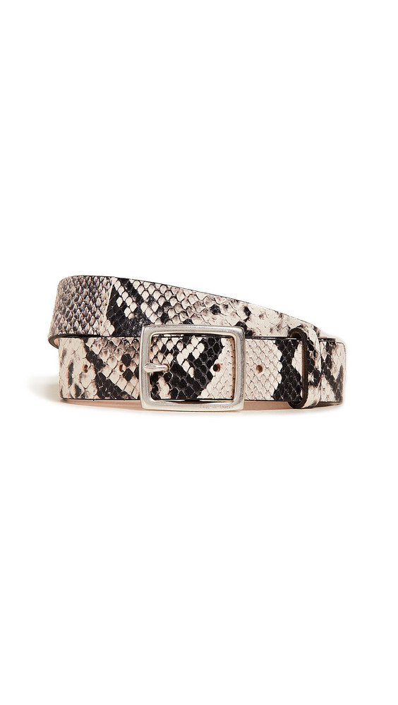 Rag & Bone Boyfriend Belt in black / white