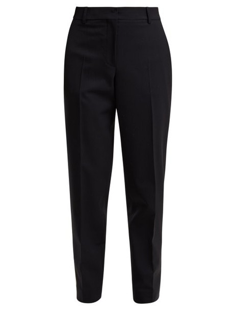 Calvin Klein 205w39nyc - Wall Street Tapered Gabardine Trousers - Womens - Navy Multi