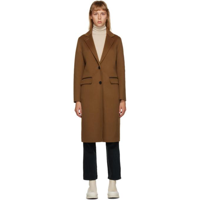 Mackage Brown Hens Coat in camel