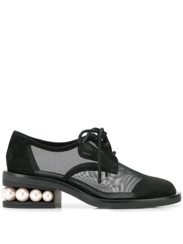 Nicholas Kirkwood Casati Pearl Derby shoes in black