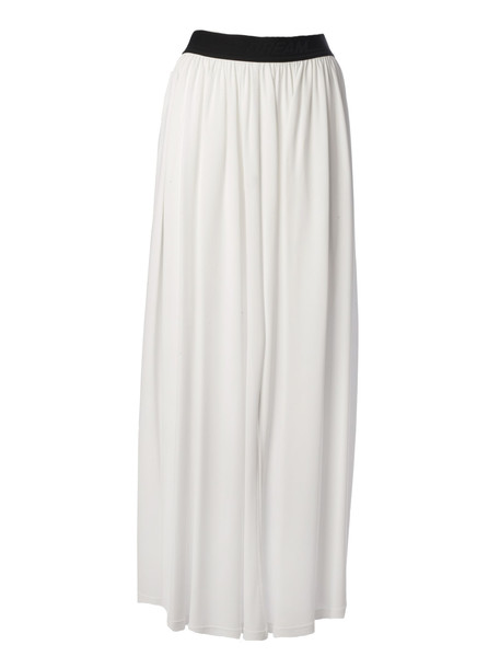 Msgm Flared Mini Skirt in white