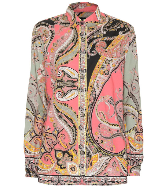 Etro Paisley-printed stretch-cotton shirt