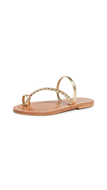 K. Jacques Septine Band Toe Ring Slides