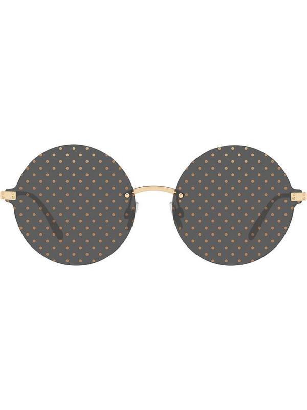Dolce & Gabbana Eyewear Dotted sunglasses in gold