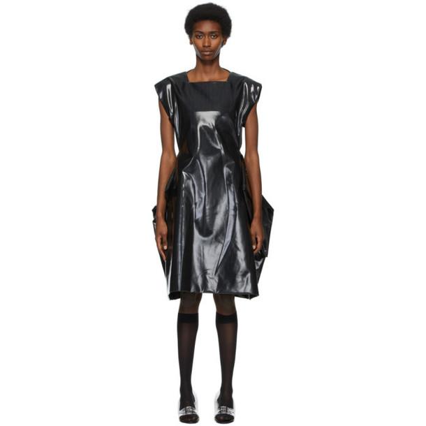 Comme des Garcons Black Gabardine Poly Laminated Dress