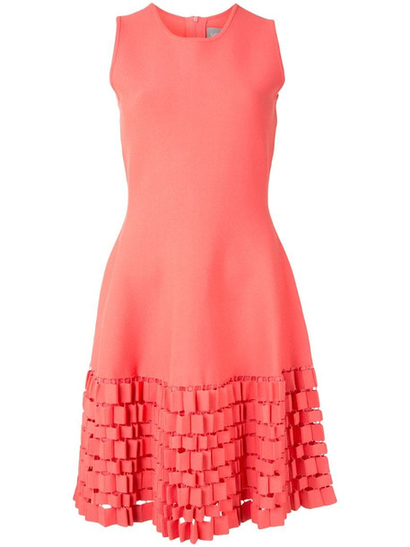 Lela Rose cut-out shift dress in pink