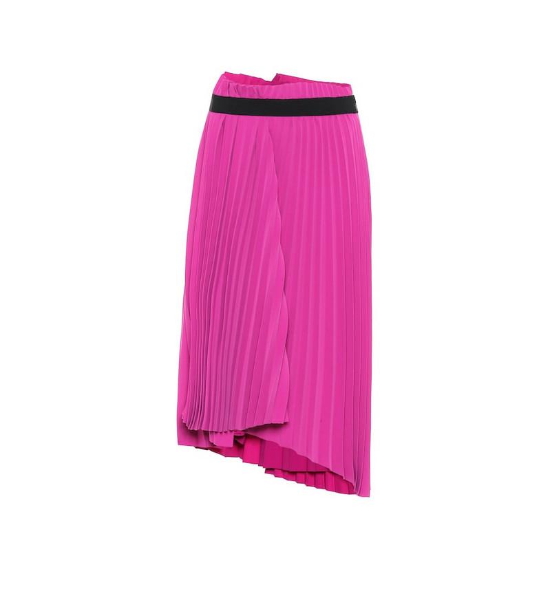 Balenciaga Pleated crêpe skirt in pink
